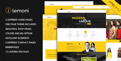 themeforest free html templates lemoni multipurpose html5 template by codelayers