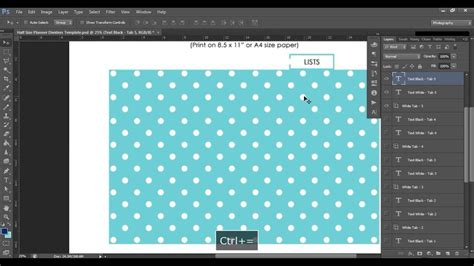 how to make a template in photoshop how to make planner dividers using a printable photoshop