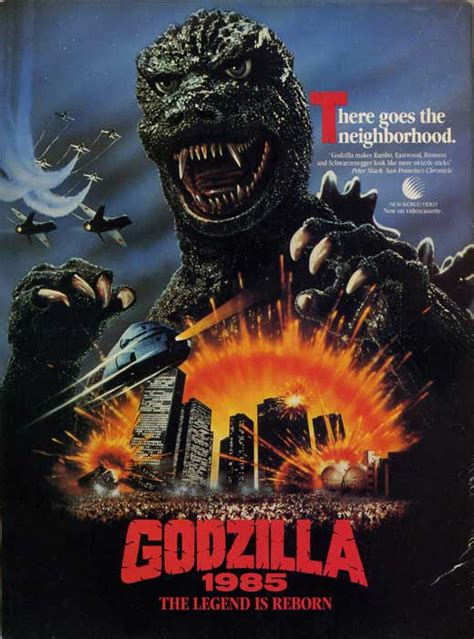 Poster Anime Poster The Legend Of Kin 1 godzilla 1985 the legend is reborn posters from