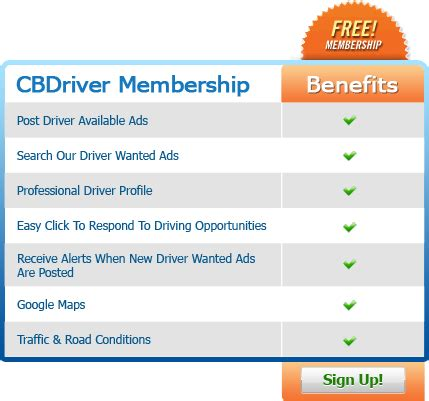 receive alerts of ads like this by email sign up with cbdriver now cbdriver