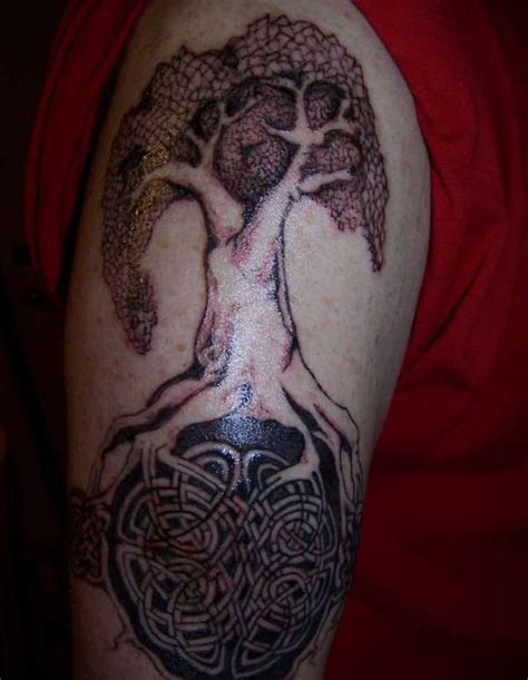 tree shoulder tattoo 69 awesome celtic shoulder tattoos