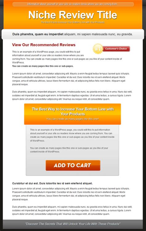 Single Product Review Website Templates Mrr Products Website Templates