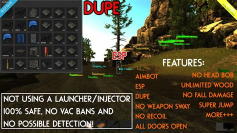 tutorial esp hack rust mega hack package aimbot esp dupe no recoil sway