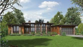 Modern Ranch House Plans by Impressive Contemporary Ranch Hwbdo77165 Contemporary