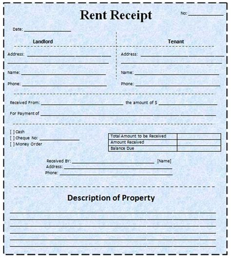 rental receipts template pin rent receipt template on