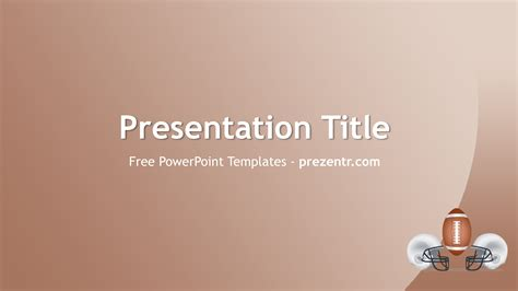 free american football powerpoint template prezentr
