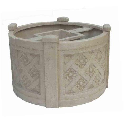 mpg 18 in dia white cast stone mailbox planter pf6122aw