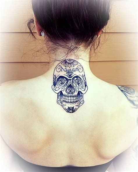 back of the neck tattoos 45 back of the neck designs meanings way to the