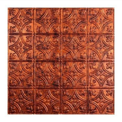 Copper Ceiling Tiles Home Depot by Fasade Traditional 1 2 Ft X 2 Ft Lay In Ceiling Tile