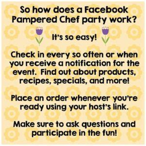 pampered chef virtual party graphics  heavenly recipes