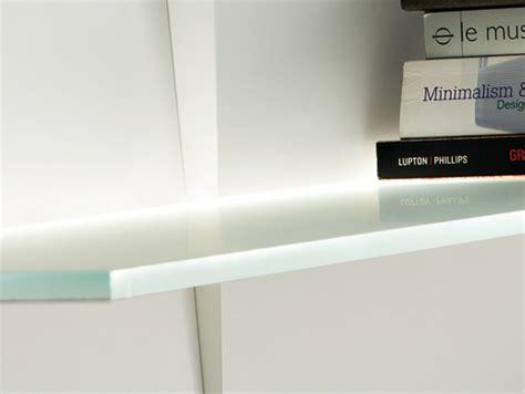 ladario bianco moderno illuminazione up libreria a parete laccata con