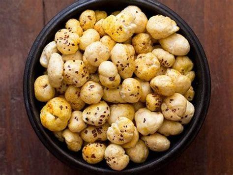 Unpolised Rice With Lotus Seed roasted makhana or phool makhana recipe lotus seeds or foxnuts