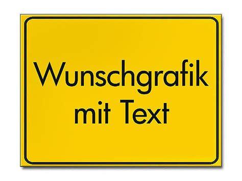 Baustellenschild Selbst Gestalten by Gelbes Ortsschild Mit Ihrem Wunschtext Hausnummern Und
