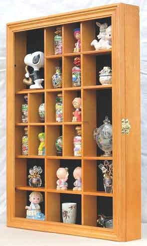 Display To Hold Multiply Matted Pieces - collector figurine display small wall curio cabinet