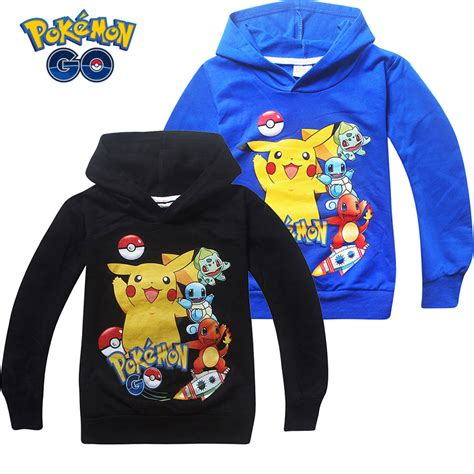 Hoodie Jdm Boy Clothing go pikachu boys hoodies sweatshirt clothes coat outwear tops ebay