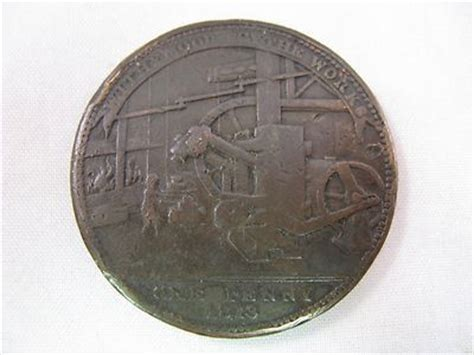 Aksesoris Bros Jas Kameja Pin Vintage 1813 worcester withymoor scythe works jas griffin one trade token ebay available