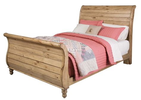 Wood Sleigh Bed Homecoming Solid Wood King Sleigh Bed In Vintage Pine 33 152p Code Univ20 For 20
