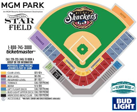 Mgm Ticket Office mgm park seating chart biloxi shuckers tickets