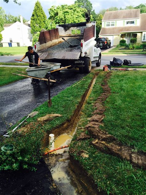 water in backyard problem drainage solutions archives south jersey drainage south