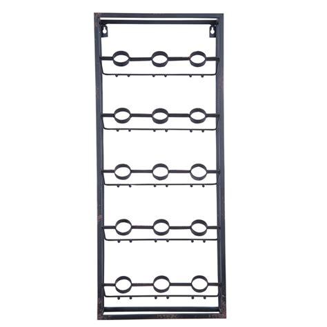 metal grid wall wine rack plum post