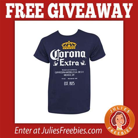 Free T Shirt Giveaways - free corona t shirt giveaway julie s freebies