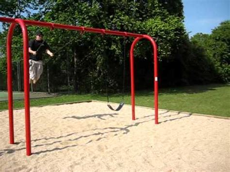 how to do a backflip off a swing backflip off swing youtube