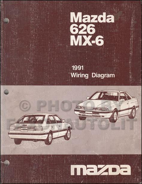 free auto repair manuals 1991 mazda 626 on board diagnostic system early 1991 mazda 626 mx 6 wiring diagram manual original