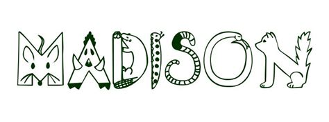 coloring pages with the name madison coloring page first name madison