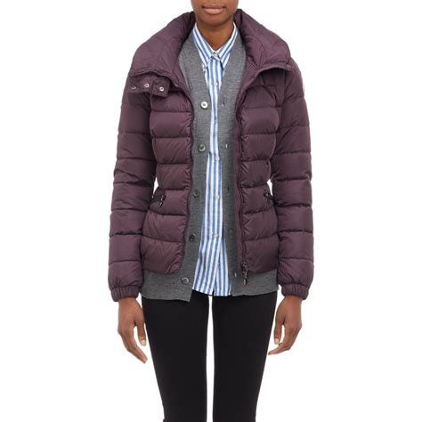 Moncler Quilted Puffer Jacket by Moncler Channel Quilted Hooded Puffer Jacket In Purple Lyst