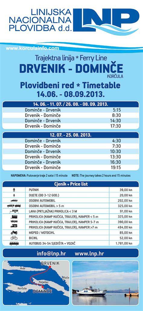 ferry dubrovnik to hvar timetable ferry drvenik near makarska korcula drvenik ferries