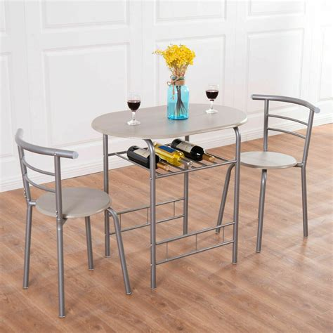 dining table and chairs set 3 dining set table 2 chairs bistro pub home kitchen