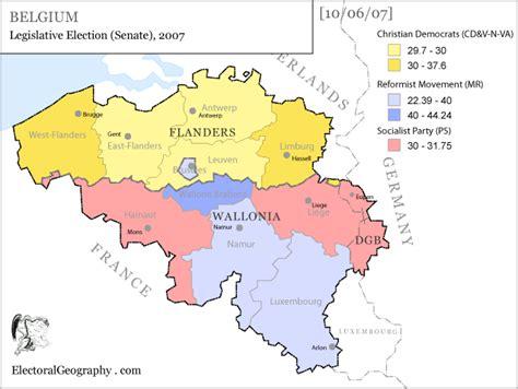 belgium political map belgium legislative election 2007 electoral geography