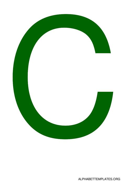 c green large alphabet templates in color green alphabet templates org