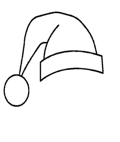 coloring page santa hat free printable santa hat coloring pages for kids