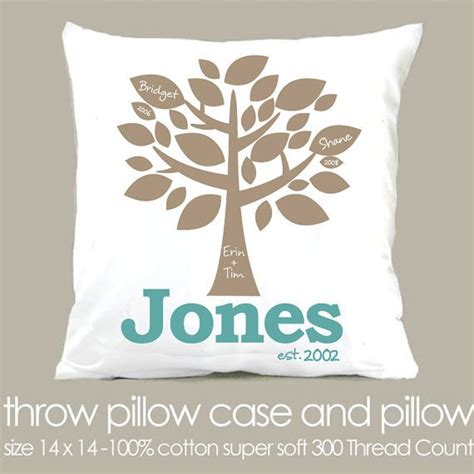 great house warming gifts custom family tree personalized throw pillow great