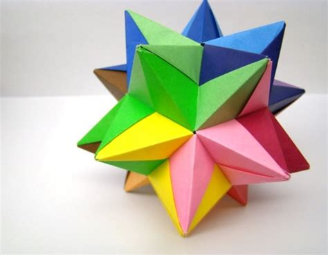 Modular Origami Balls - modular origami multi colored 10 by origamidelights