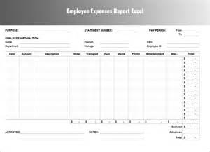 Free Expense Report Template Excel by Expenses Report Template Free Word Excel
