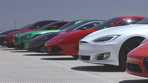 tesla drag tesla trounces supercars in world s greatest drag race