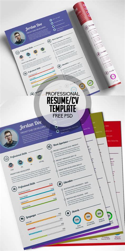 free cv resume psd templates freebies graphic design 17 free clean modern cv resume templates psd
