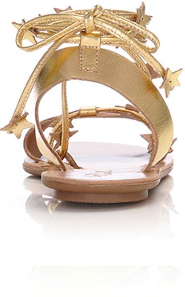 loeffler randall starla sandal loeffler randall starla plank sandal in gold lyst