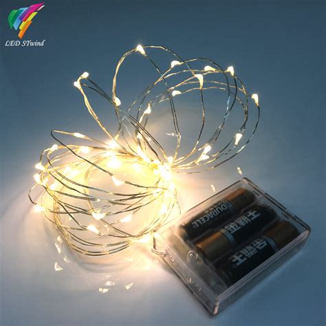 small decorative battery operated ls 9 color 5m 50leds fairy string lights l battery