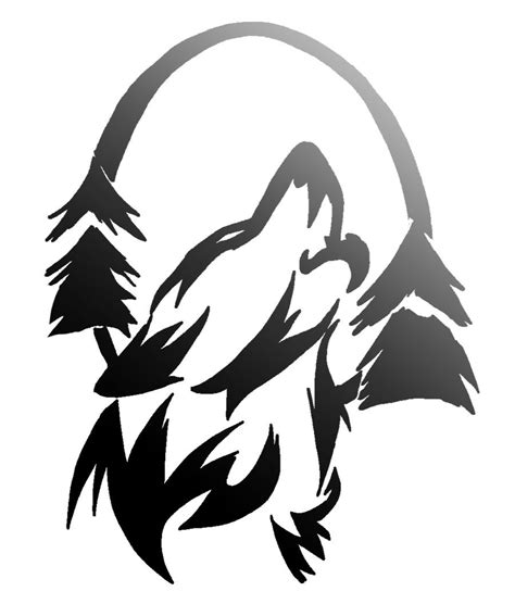 proud howling wolf head tattoo howling commish by nainu on deviantart
