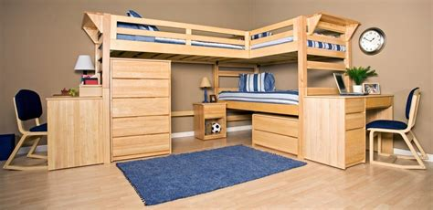 Futon Bunk Bed With Desk Bunk Beds With Table Underneath