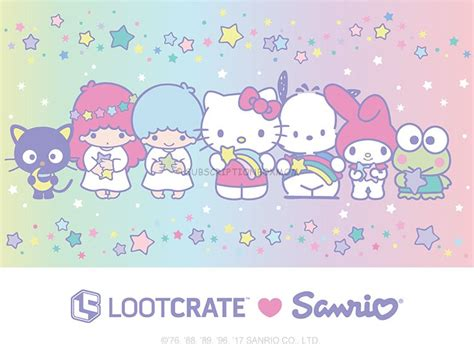 kitty themes for winter loot crate sanrio small gift crate winter 2017 spoilers