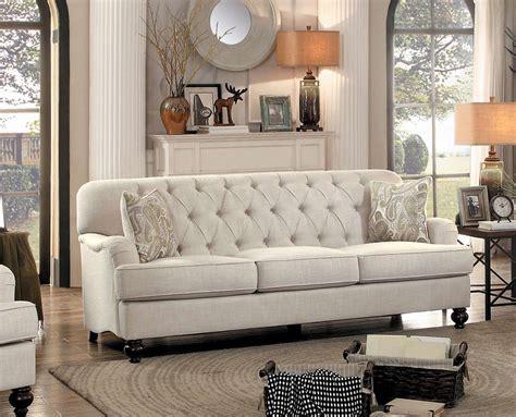 homelegance clemencia sofa tone fabric 8380 3