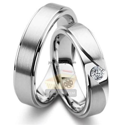 Cincin Tunangan Perak Hitam Putih cincin kawin janna palladium cincin kawin jogja