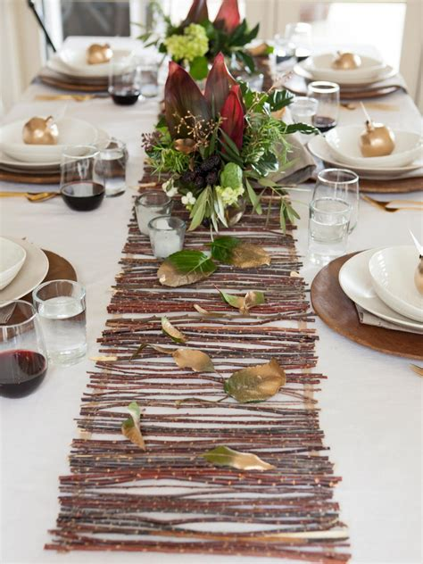table runner ideas a rustic twig table runner hgtv