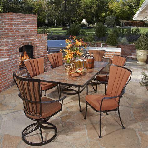 ow outdoor furniture ow monterra 7 dining set with porcelain top table ow monterra set8