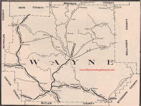 Wayne County Search Wayne County Missouri 1904 Map