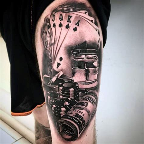Cool Garages Pictures 40 poker chip tattoo designs for men masculine ink ideas
